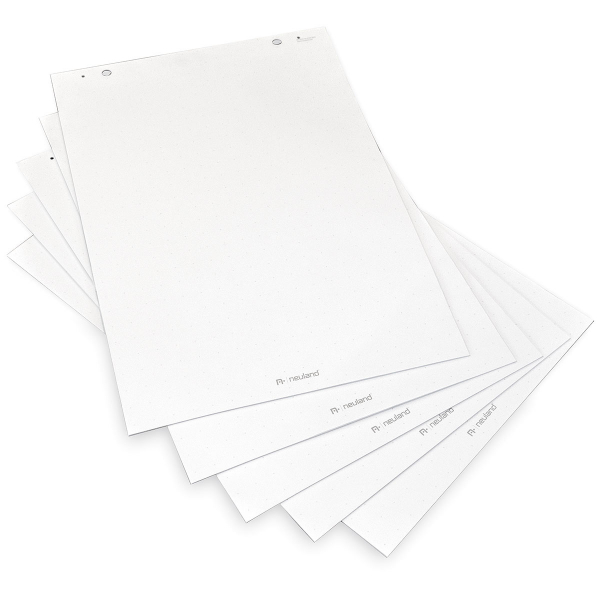Mini FlipChart paper, white with crosshair print