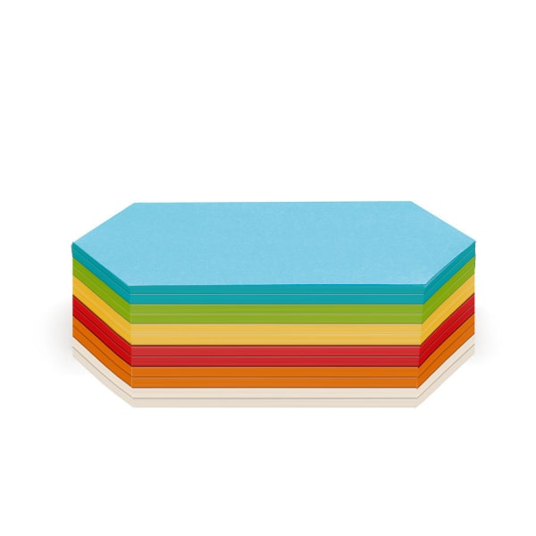 Stick-It Cards, rhombus, 300 sheets, assorted