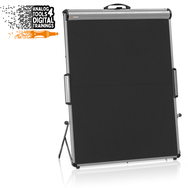 TableTop FlipChart XL: grey alu/black foam board