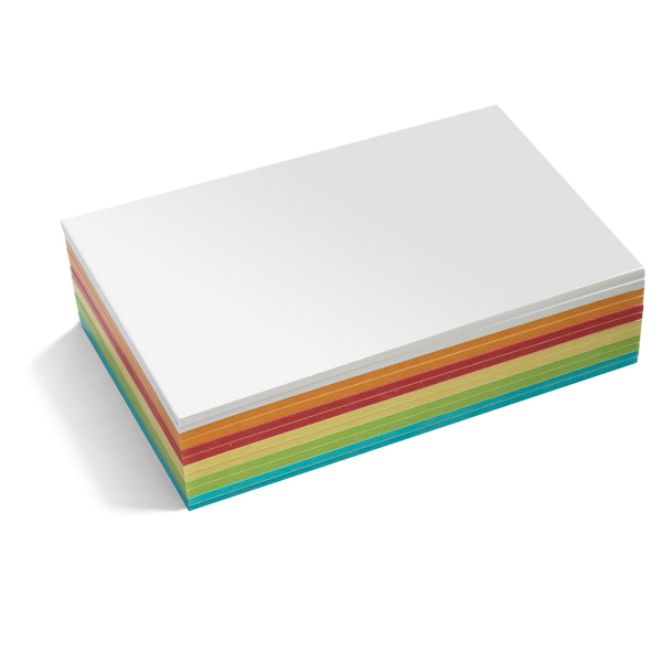 Stick-It Cards, maxi rectangular, 300 sheets, assorted