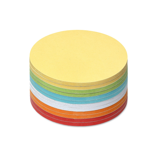 Stick-It Cards, small circular, 300 sheets, assorted