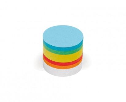 500 Small Circular Pin-It Cards, assorted colours
