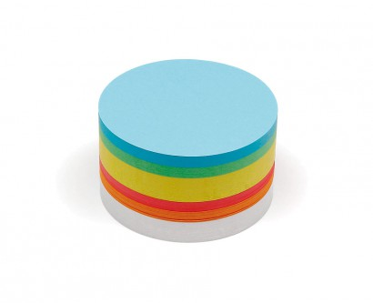 500 Medium Circular Pin-It Cards, assorted colours