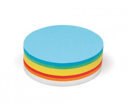 250 Large Circular Pin-It Cards, assorted colours