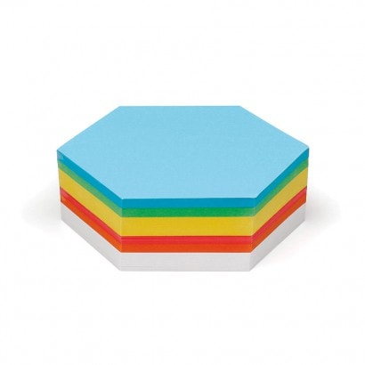 250 Hexagonal Pin-It Cards, assorted colours