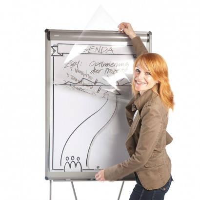 Transparent Sheets for flipcharts